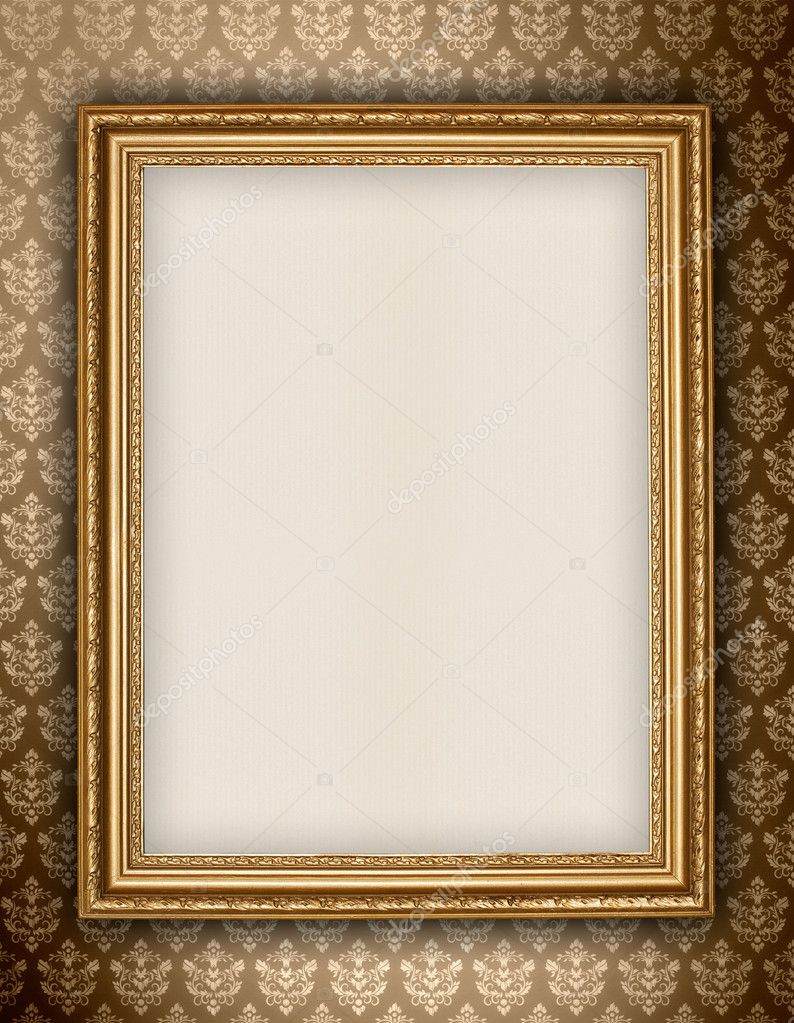 Golden Frame Wallpaper Golden Frame on Wallpaper