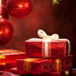 Royalty-Free Stock Photo: Christmas decoration - gifts and balls