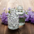 Stock Photo: Spand aromatherapy- essential oils