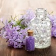 Stock Photo: Spstill life - essential oil and bath salt