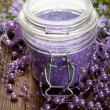 Lavender bath salt — Stock Photo #7635673