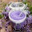 Aromatherapy - lavender bath salt — Stock Photo