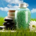 Aromatherapy bath salt — Stock Photo