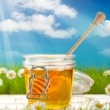 Jar of honey — Stock Photo