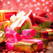 Christmas decoration - gifts — Stock Photo
