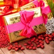 Gifts - christmas decoration — Stock Photo