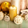 Candles and balls — Stock Photo #7635768