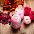 Pink bath salt — Stock Photo #7635811
