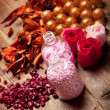 Aromatherapy - pink bath salt and balls — Stock Photo