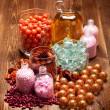 Spa treatment - aromatherapy salt and oil — Stock Photo