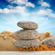 Spa still life - stones on beach — Foto de Stock