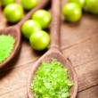 Aromatherapy - green bath salt — Stock Photo #7636061