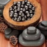 Massage spa stones — Stock Photo