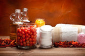 Aromatherapy - mineral batth salt and essential oils — Foto Stock
