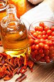 Essential oil and bath salt balls — Stock Photo
