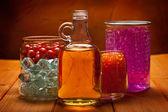 Essential oils and bath salt — Stock Photo