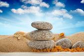 Spa-nature morte - pierres, sur plage — Photo