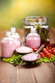 Spa minerals - bath salt — Stock Photo