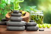 Hot massage - spa stones — Stock Photo