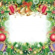Background with christmas symbols - Stock Vector
