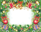 Background with christmas symbols — Vettoriale Stock