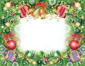 クリスマスのシンボルの背景 — ストックベクタ