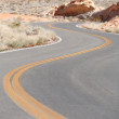 Winding Road Nevada - Stockfoto