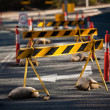 Council road blocks — Stock Photo