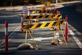 Raad wegblokkades — Stockfoto