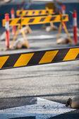 Council road blocks — Stock Photo