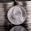 Jefferson Head Nickel — Stock Photo