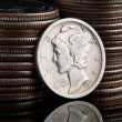 Mercury Head Dime - Stock Photo