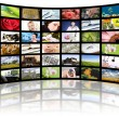 Television production concept. TV movie panels — Stock Photo #6838745
