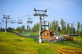 Ski Lift. Chairlift in summer. — Stock Photo