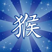 Chinese zodiac sign monkey — Stock Vector