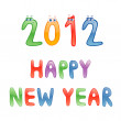 2012 Happy New Year — Stock Vector