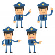Royalty-Free Stock Vector Image: Set of funny cartoon policeman