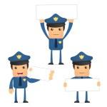 Set of funny cartoon policeman — Stock Vector #6887743