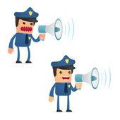 可爱的卡通警察一套 — 图库矢量图片