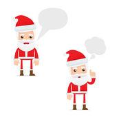 Set of funny cartoon Santa Claus — Stock Vector