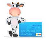Funny cartoon cow — Stock Vector