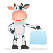 Funny cartoon cow — Stock Vector