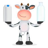 Vtipné kreslené kráva — Stock vektor