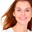 Portrait of cute young woman over white — Stock Photo #7724116