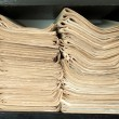 A stack of old newspapers. — Stock Photo