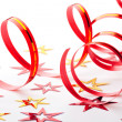Party decoration on white background - 图库照片