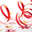 Party decoration on white background - Stockfoto
