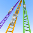 Competition and ladders — Stock Photo