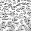 Currency symbols background — Stock Photo