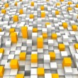 Orange and white blocks — Stock Photo